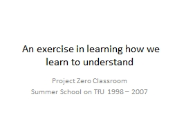 An exercise in learning how we learn to understand