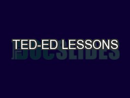 TED-ED LESSONS