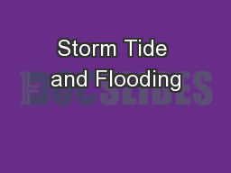 Storm Tide and Flooding