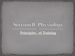 Principles of Training PowerPoint PPT Presentation