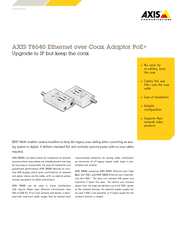 AXIS T Ether net over Coax Adaptor PoE Upgrade to IP b