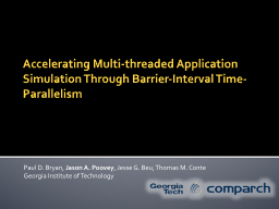 Accelerating Multi-threaded Application Simulation