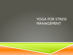 Yoga for stress management