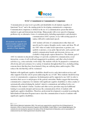 NCSCs Commitment to Communicative Competence Communica