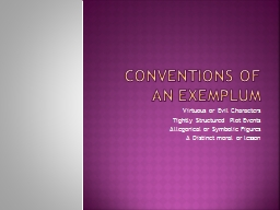 Conventions of an Exemplum PowerPoint PPT Presentation