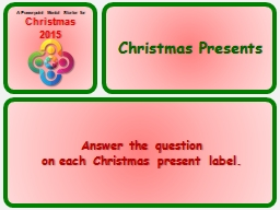 Answer the question PowerPoint PPT Presentation