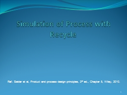 Example of Process with Recycle: PowerPoint PPT Presentation