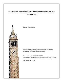 Calibration Techniques for Time-Interleaved SAR A/DConverters ...