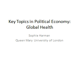 Key Topics in Political Economy: