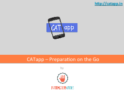 by CATapp – Preparation on the