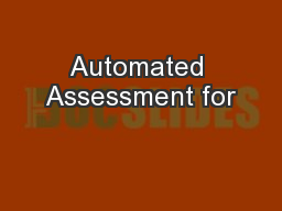 Automated Assessment for