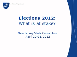 Elections 2012: