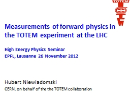 Measurements of forward physics in the TOTEM experiment at