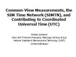 Common-View Measurements, the SIM Time Network (SIMTN), and