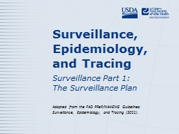 Surveillance, Epidemiology, and Tracing