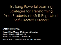 Self-Regulated Learning: