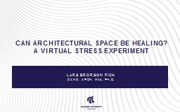 Can architectural space be healing?
