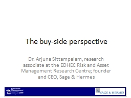 The buy-side perspective