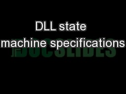 DLL state machine specifications