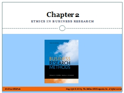 Ethics in Business Research