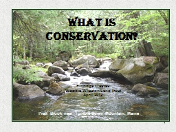 1 WHAT IS CONSERVATION?