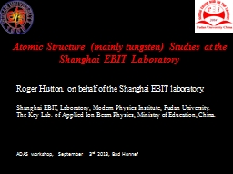 Atomic Structure (mainly tungsten) Studies at the Shanghai