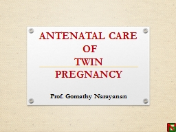 ANTENATAL CARE PowerPoint PPT Presentation