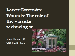 Lower Extremity Wounds: The role of the vascular technologi PowerPoint PPT Presentation