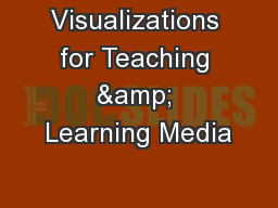 Visualizations for Teaching & Learning Media PowerPoint PPT Presentation
