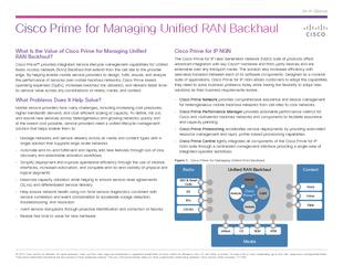 Cisco Prime for Managing Unified RAN Backhaul   Cisco
