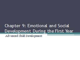 Chapter 9: Emotional and Social Development During the Firs