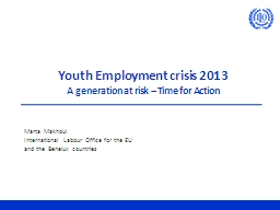 Youth Employment crisis 2013