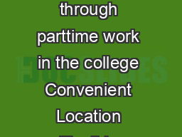 Providing nancial support to CUBoulder engineering students through parttime work in the college Convenient Location Flexible Schedule Competitive Wages Professional Experience www