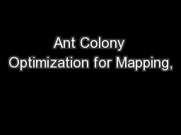Ant Colony Optimization for Mapping,