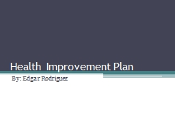 Health Improvement Plan