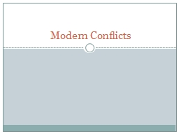Modern Conflicts