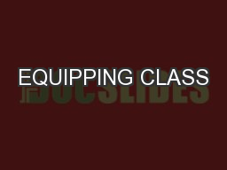EQUIPPING CLASS