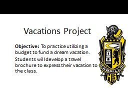 Vacations Project PowerPoint Presentation, PPT - DocSlides