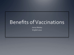 Benefits of Vaccinations