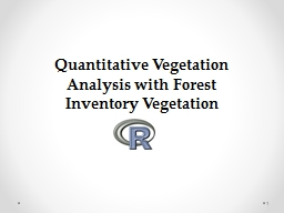 1 Quantitative Vegetation Analysis with Forest