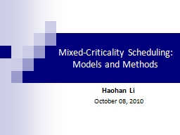 Mixed-Criticality Scheduling: