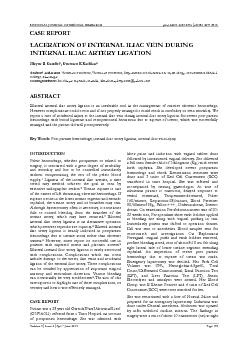 NATIONAL JOURNAL OF MEDICAL RESEARCH   print ISSN: 2249 4995eISSN: 227