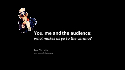 You , me and the audience: