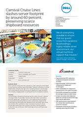 Carnival Cruise Lines slashes server footprint by arou