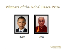 Winners of the Nobel Peace Prize