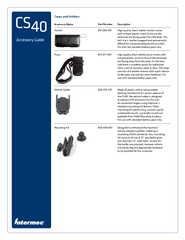 Accessory Guide CS  Cases and Holders Accessory Name P