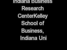 Indiana Business Research CenterKelley School of Business, Indiana Uni