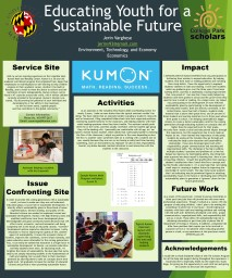Educating Youth for a Sustainable Future