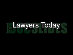 Lawyers Today