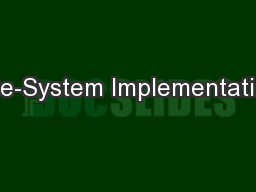 File-System Implementation PowerPoint PPT Presentation